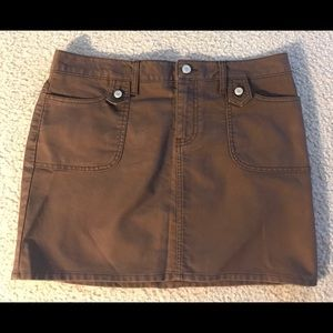 Old Navy Coco Brown Casual Mini Skirt